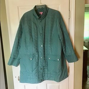 26W NEW Quilted Jacket. Zip & Snap Closures.